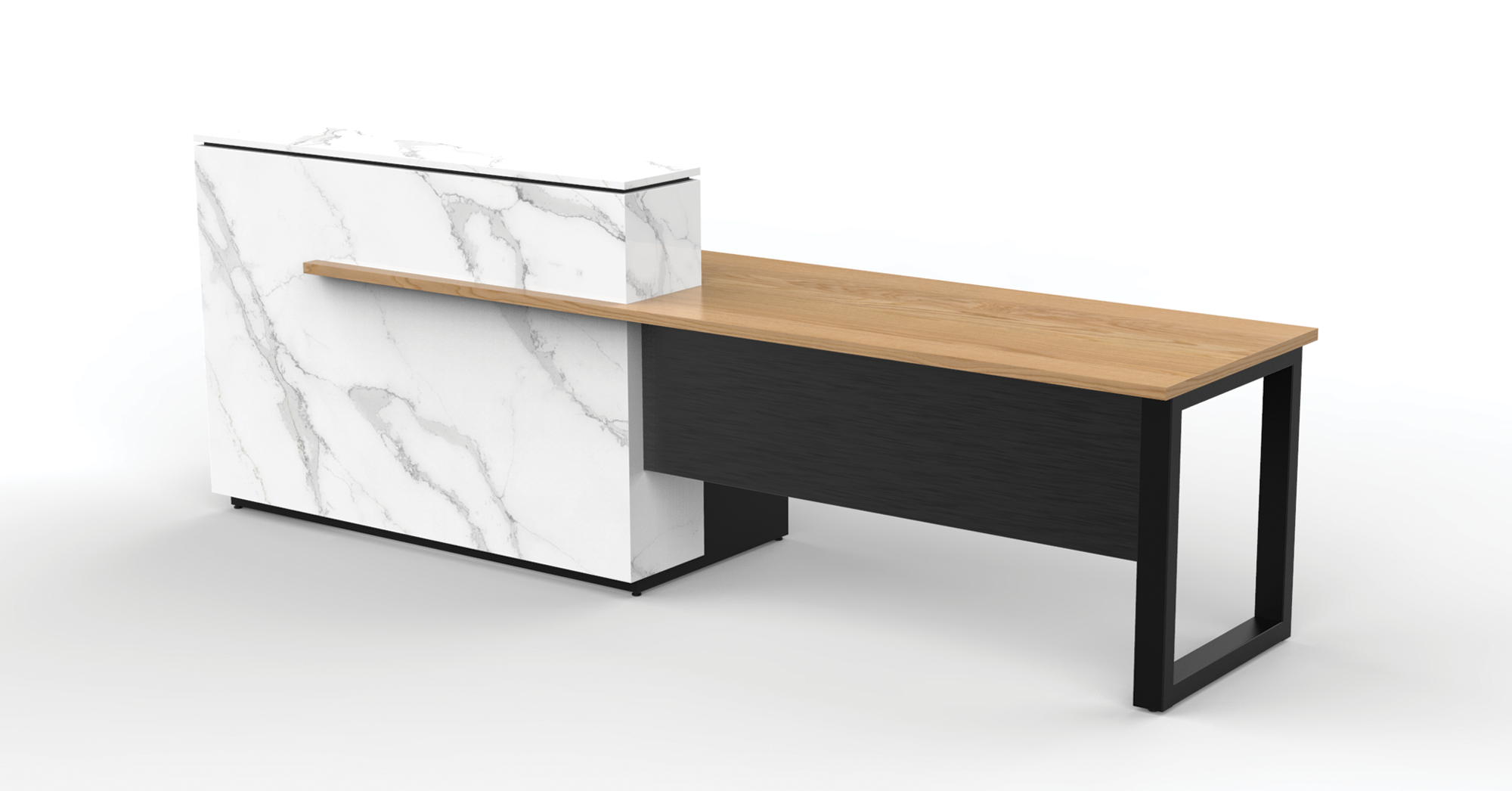 Custom reception desk, Eric Schroeder design